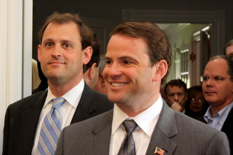 andy barr and friend