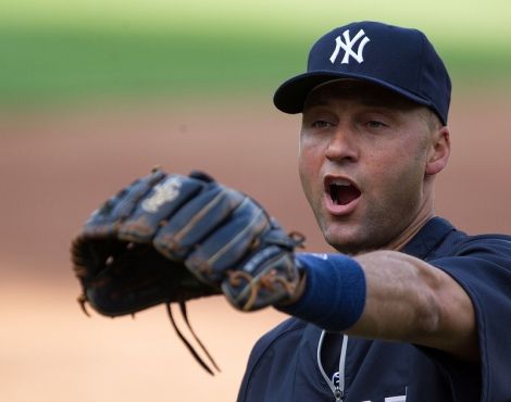 Jeter yells at someone, probably not about the climate