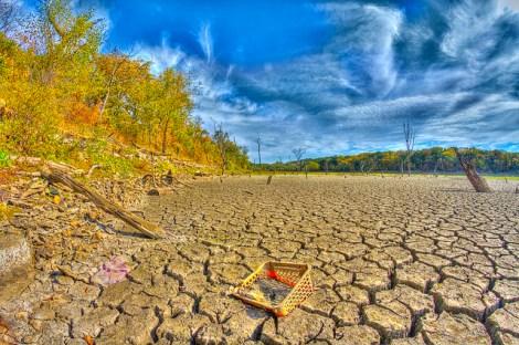 Dry lakebed near Stull, Kansas