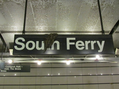 south ferry subway sign
