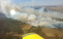 Smoke near Cooma, Australia, Jan. 8.