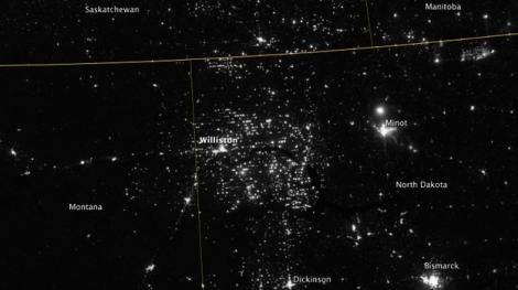 Gas flares visible from space