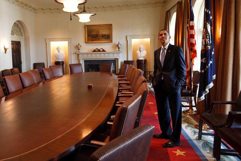 Obama in Cabinet room