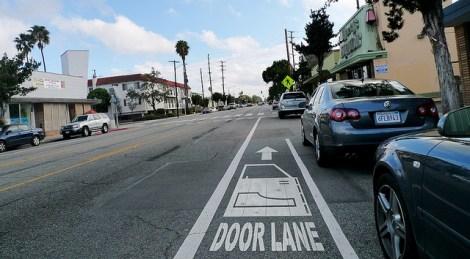 """bike lane labeled as """"door lane"""""""
