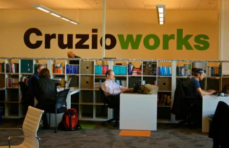 Just another day of coworking at Cruzioworks in Santa Cruz, Calif.