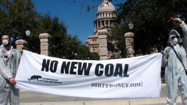 """""""no new coal"""" protest"""