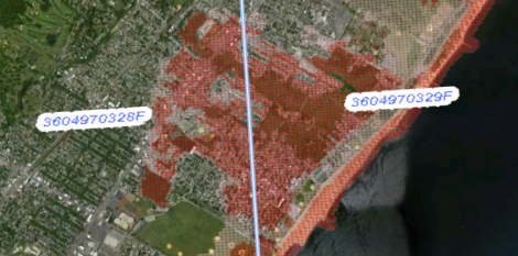 FEMA's risk map for the hardest-hit area of Staten Island.
