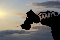 tractor-cliff-silhouette