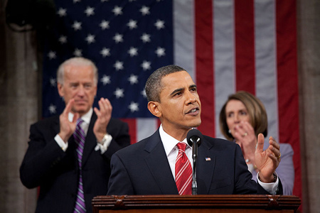 Obama delivers the 2010 State of the Union