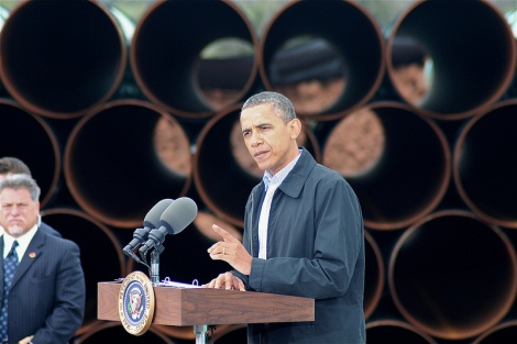 The president talks pipes.