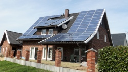 Solar panels on a German house.