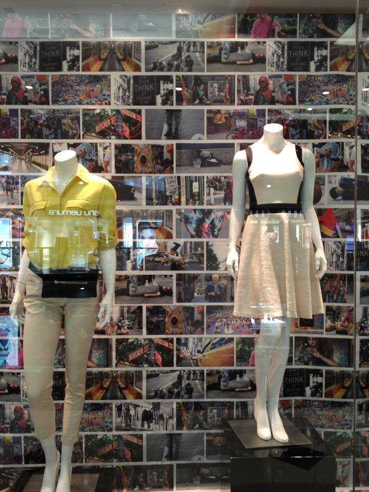 Stanton's photos on display in a Bangkok DKNY store.