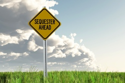 """sequester ahead"" sign"