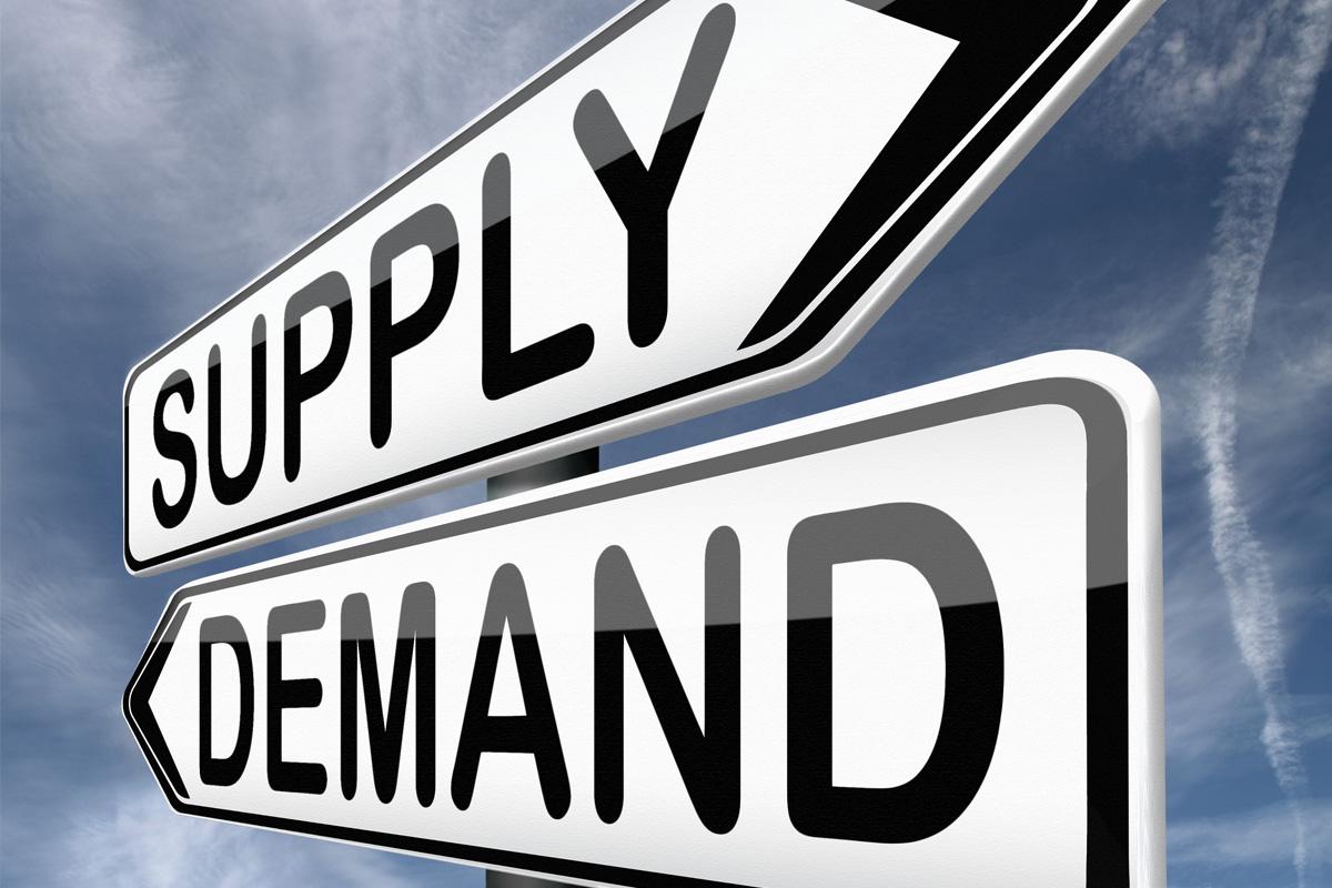 supply & demand sign