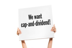 """sign: """"We want cap-and-dividend!"""""""
