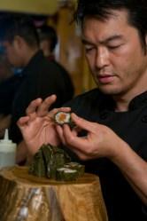 Bun Lai making wabisabi.