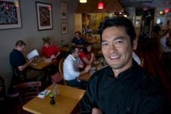 Bun Lai in his restaurant.