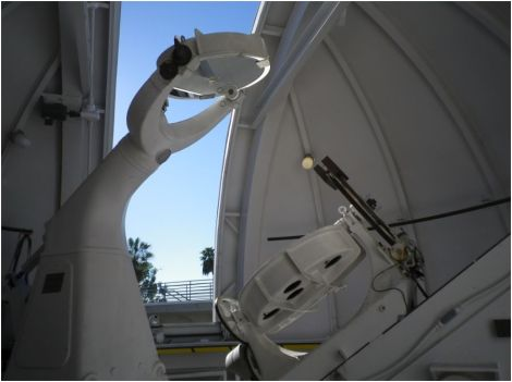 This is a Solar Fourier Transform Spectrometer at Caltech, which scientists are using to study greenhouse gases.