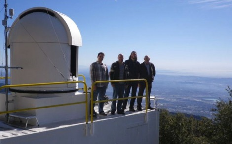 Part of the Megacities team at the CLARS facility in Pasadena. Left to right: Thomas Pongetti, Riley Duren, Eric Kort, Stan Sander.