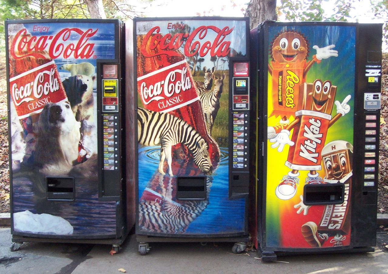 soda and candy vending machines