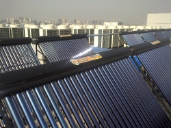 Solar water heating on Wuxi General Hospital