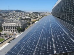Solar panels in San Francisco