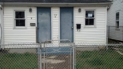 One of many houses in Keansburg that still stands empty.