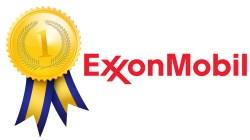 ExxonMobil logo and award