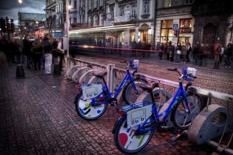 Krakow also has a bike sharing program.