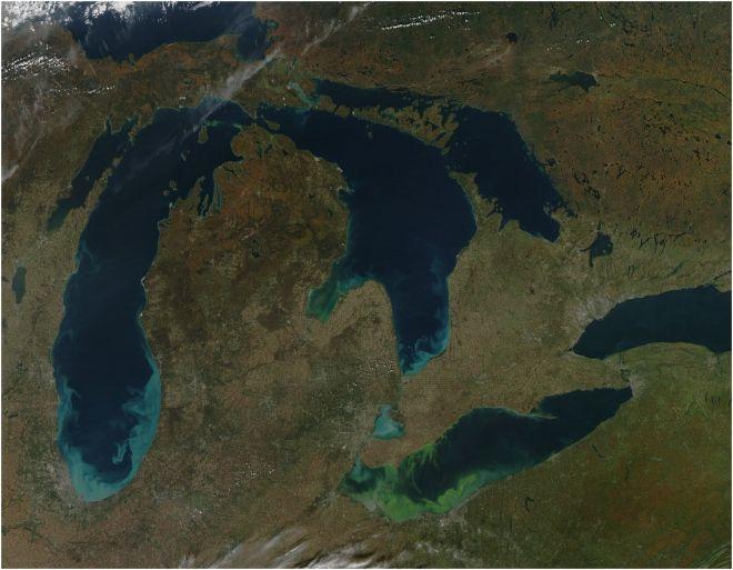 lake erie algae 2011 EARTH OBS3
