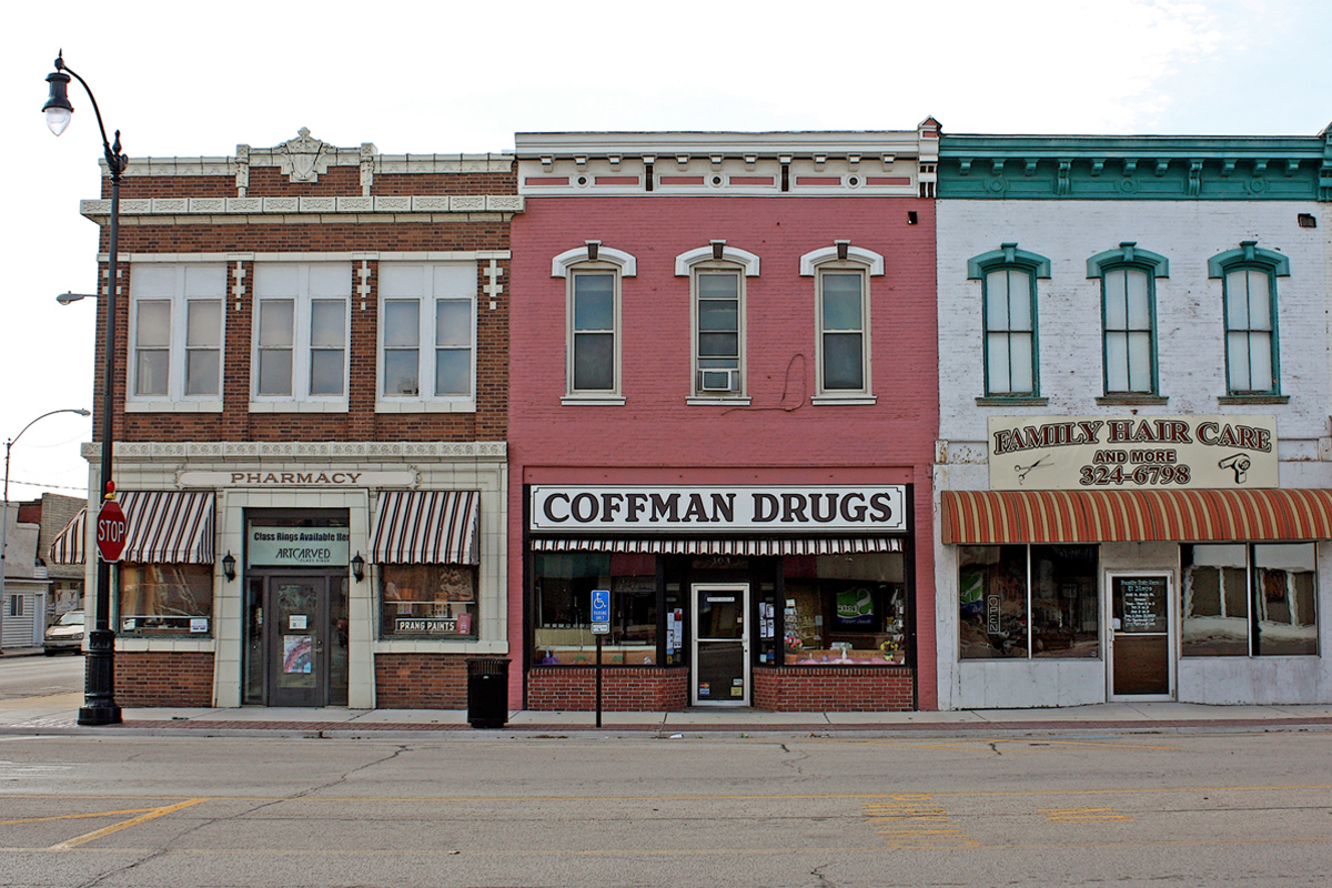 small stores on Main Street