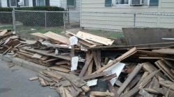 Piles of rubble where everywhere I went in Keansburg.