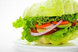 vegetable burger lettuce