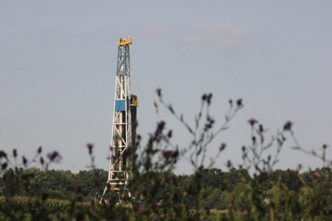 A fracking well in Lawrence County, Pa.