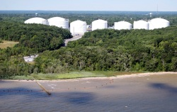 Cove Point, built as a natural gas import terminal, destined to be a natural gas export terminal.