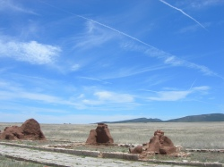 The ruins of Fort Union in Mora County, N.M.