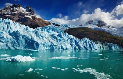 Glaciers, such as this one in Argentina, are melting and releasing their reserves of water.