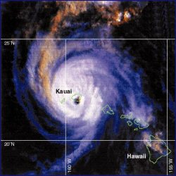 Hurricane Iniki performed a historically rare feat when it made landfall on Kauai in September 1992
