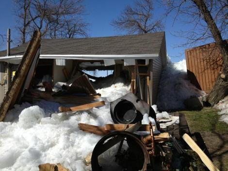 ice surge destroys homes