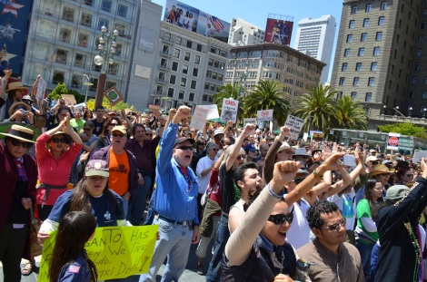 Marching against Monsanto in San Francisco