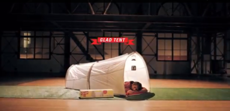 It's a tent, it's a trash bag, it's a trash bag, it's a tent
