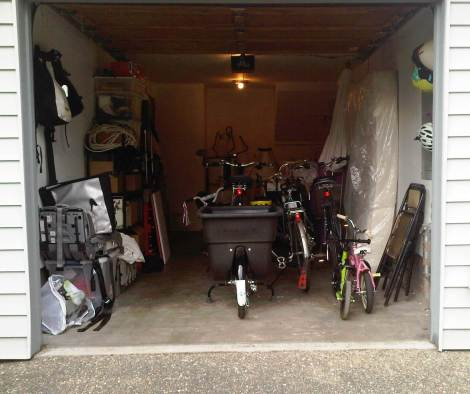 Bikes in garage