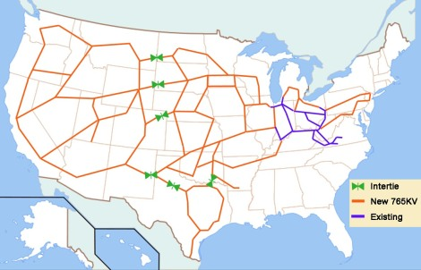 AWEA-proposed U.S. supergrid