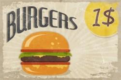 $1 burger sign