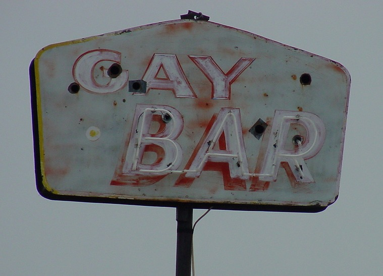 gay bar sign