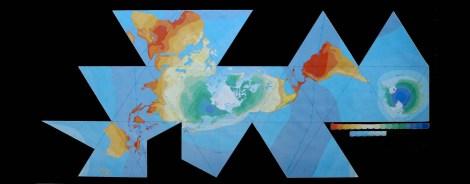 Fuller Projection Air-Ocean World Dymaxion Map