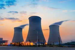 nuclear-power-plant-sunset