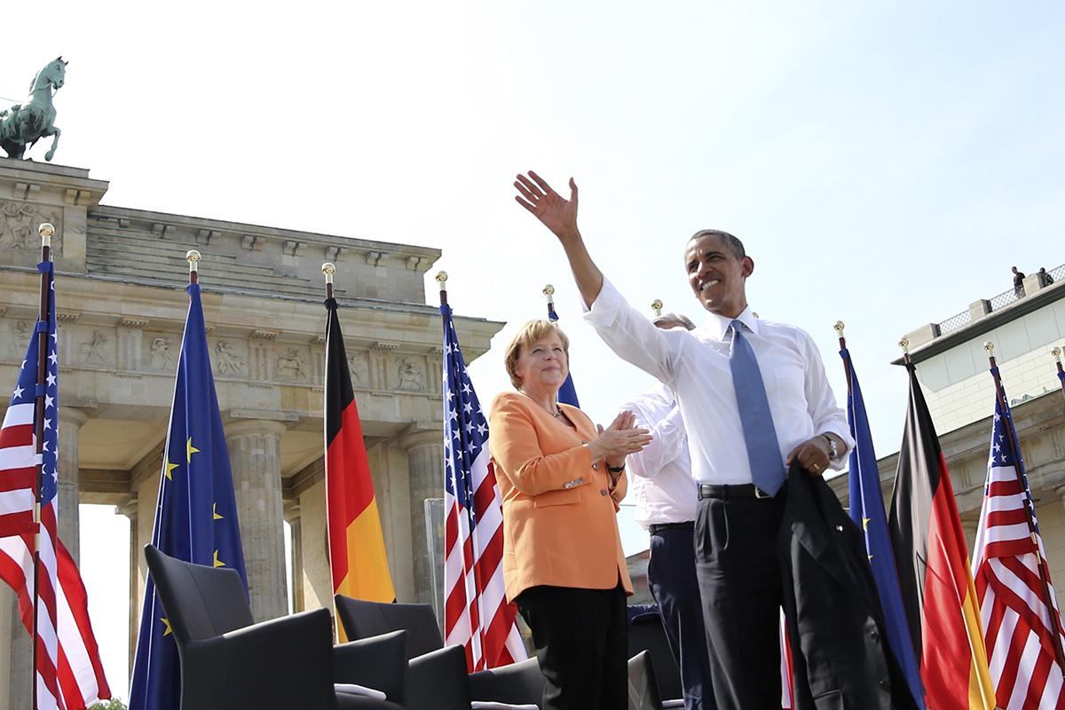 Obama and Angela Merket