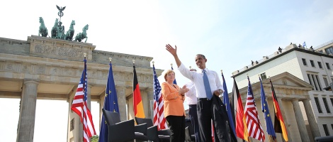 Obama and Angela Merkel