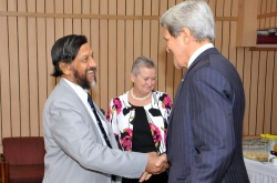 Rajendra Pachauri and John Kerry